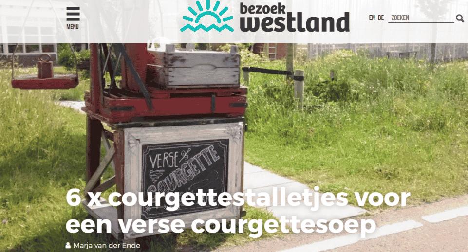 Blog Bezoek Westland: 6x courgettestalletjes voor een verse courgettesoep