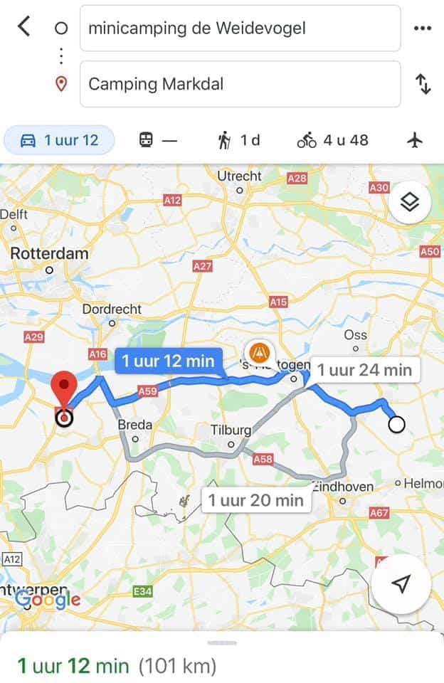 Verslag VanNoordoost-BrabantnaarWest-Brabant / 'n Bietje Gezond– 5/8 – 9/8/2020