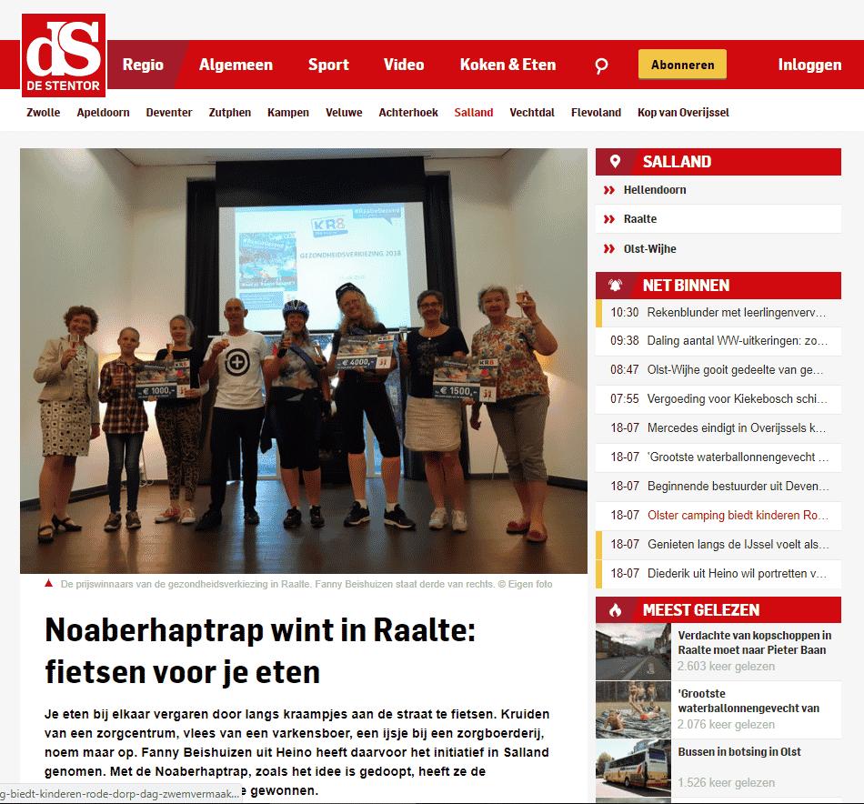 Noaberhaptrap wint in Raalte: fietsen voor je eten – Sallandse media