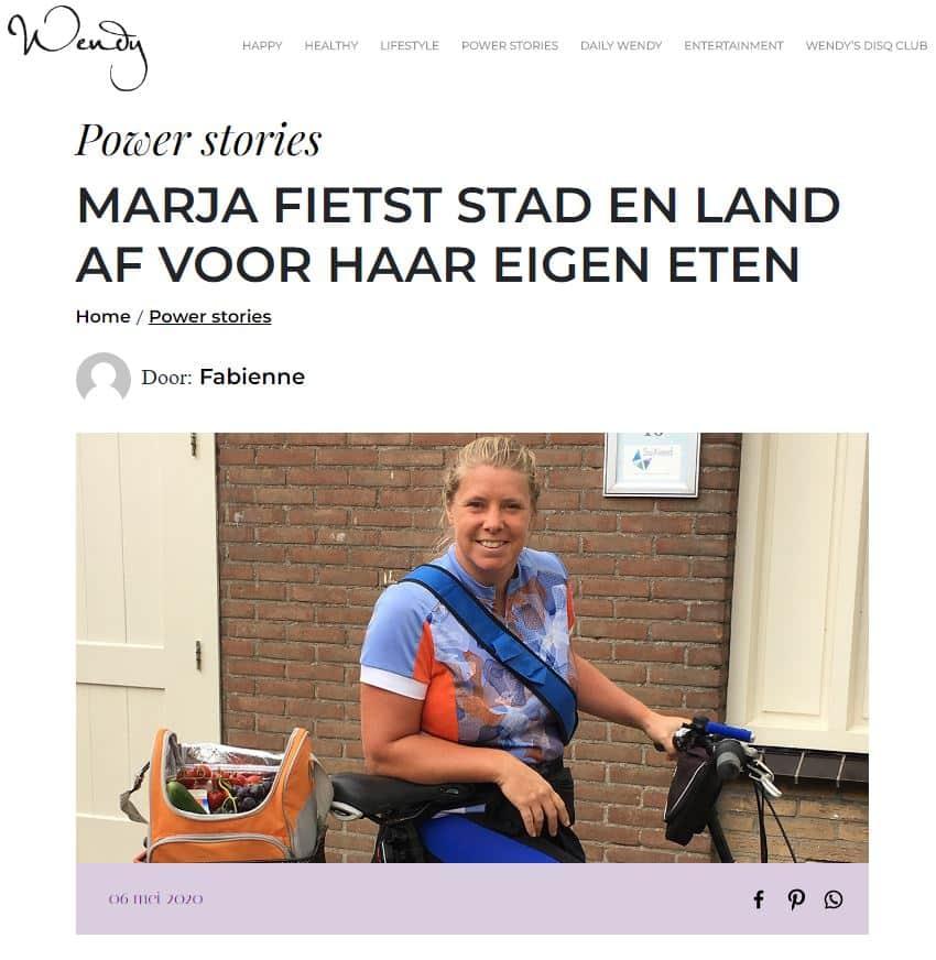 Marja fietst stad en land af voor haar eigen eten – Wendy online