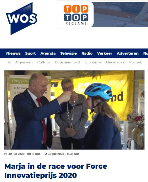Fietsen voor m'n eten in de race voor Tour de Force Innovatieprijs – WOS Nieuws en Radio
