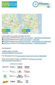 Routekaart HWL Purmerend