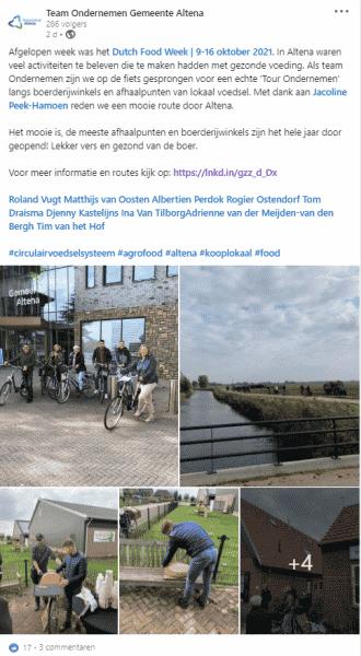 Gemeente Altena stapt op de fiets naar de korte-ketenondernemers